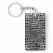 Thick Silver Chainmaille Keychain