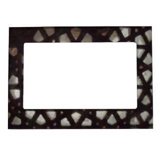 Thick stone lattice magnetic picture frames