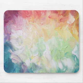 Thick Textured Abstract Paint Mouse Pad