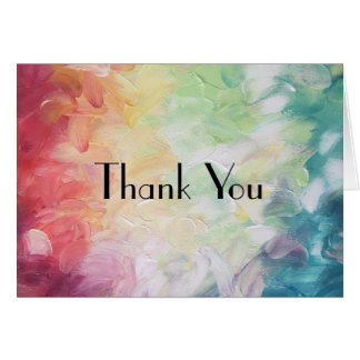 Thick Textured Abstract Paint Thank You Stationery Note Card