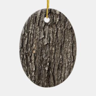 Thick Tree Bark Ceramic Ornament