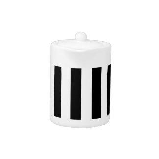 Thick Vertical Stripes Teapot