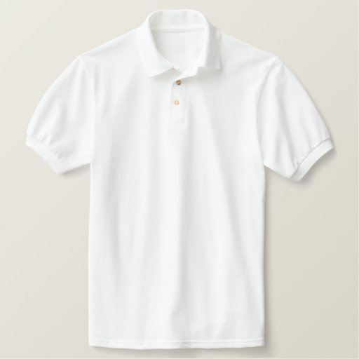 Thick White Polo Golf Shirt | Zazzle
