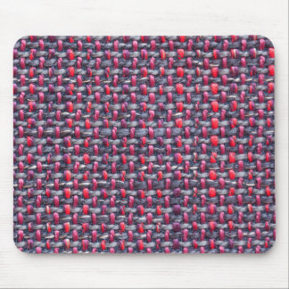 Thick white, red and blue strings mouse pad