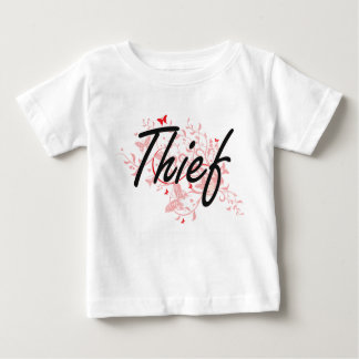 Thief Artistic Job Design with Butterflies Baby T-Shirt