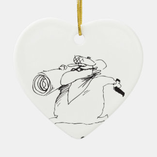 thief ceramic ornament
