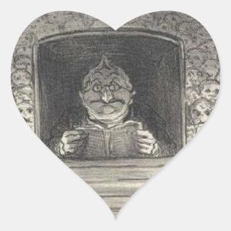 Thiers. El promotor de Honore Daumier Pegatina En Forma De Corazón