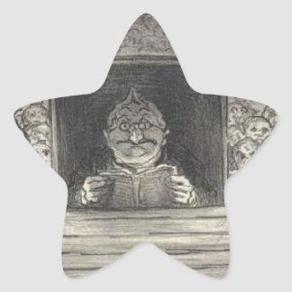 Thiers. El promotor de Honore Daumier Pegatina En Forma De Estrella
