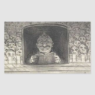 Thiers. El promotor de Honore Daumier Pegatina Rectangular