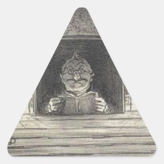 Thiers. El promotor de Honore Daumier Pegatina Triangular