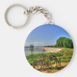 Thiessow Beach on Ruegen Island Keychain