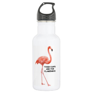 Thigh Gaps Are For Flamingos Water Bottle