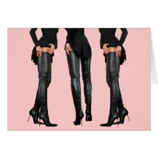 Thigh High Boot Models Card