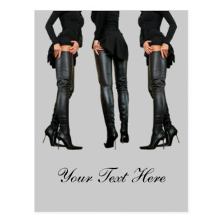 Thigh High Boot Models Postcard