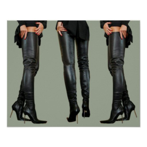 thigh high boot models poster zazzle