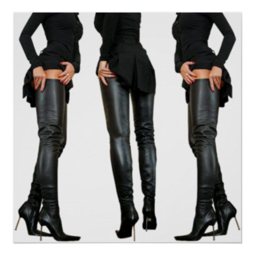 thigh high boot models posters zazzle