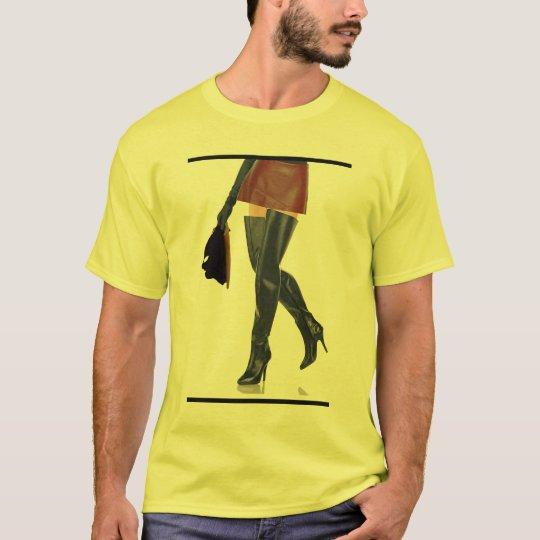 Thigh High Boots and Hood Fetish Art T-Shirt