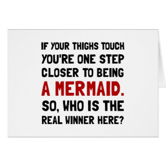 Thigh Tough Mermaid Stationery Note Card