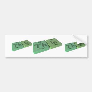 Thin as Th Thorium and In Indium Bumper Sticker