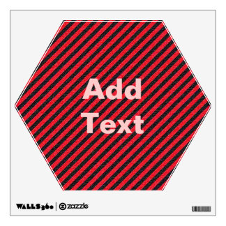 Thin Black and Red Diagonal Stripes Wall Sticker