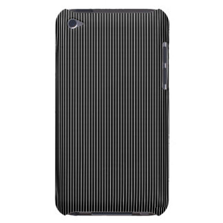 Thin Black and White Pinstripe Pattern Barely There iPod Cover