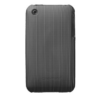 Thin Black and White Pinstripe Pattern iPhone 3 Cover