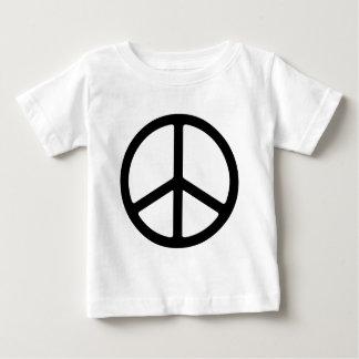 Thin Black Peace Symbol Baby T-Shirt