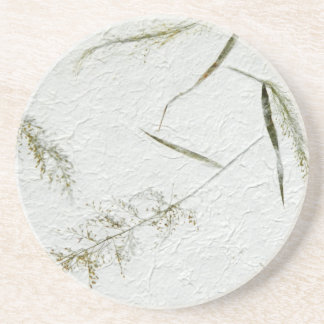Thin blades of grass Japanese rice paper Drink Coaster