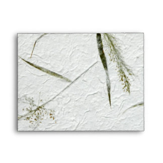 Thin blades of grass Japanese rice paper Envelope