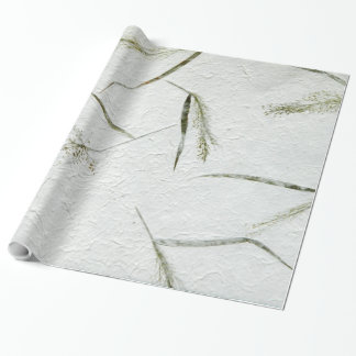 Thin blades of grass photo of Japanese rice paper Wrapping Paper