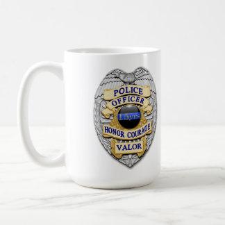 Thin Blue Line - 15 Yr Achievement Police Badge Coffee Mug