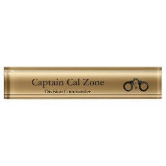 Thin Blue Line - 24 Karat Gold Look Nameplate