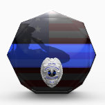 """Thin Blue Line 911 Radio Dispatcher Plaque<br><div class=""""desc"""">This design features our newly re-painted, ultra high resolution Thin Blue Line 911 Communications Dispatcher badge design. Customize your radio operator plaque by choosing from one of four beautiful badge models and three custom designed center buttons. Our award plaque is an excellent gift choice for any occasion such as retirement,...</div>"""