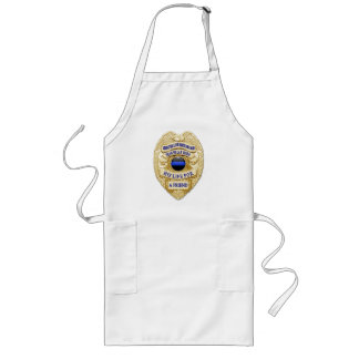 Thin Blue Line Abstract Button Long Apron