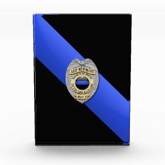 Thin Blue Line Acrylic Award