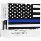 Thin Blue Line American Flag 3 Ring Binder