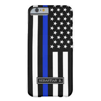 Thin Blue Line American Flag Barely There iPhone 6 Case