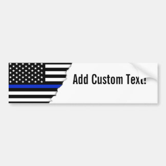 Thin Blue Line American Flag Bumper Sticker