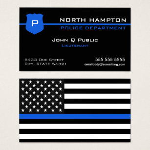 Police business cards 500 police business card templates thin blue line american flag business card colourmoves