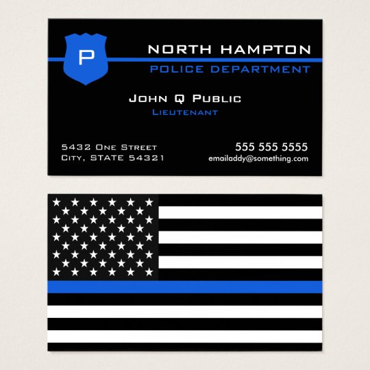Thin blue line american flag business card zazzle thin blue line american flag business card colourmoves