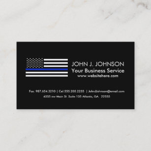American business cards zazzle thin blue line american flag business card colourmoves