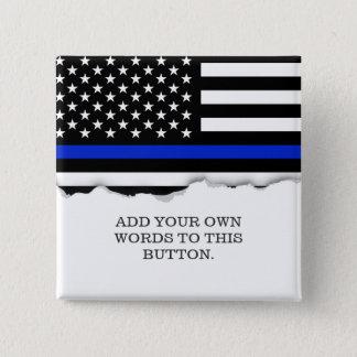 Thin Blue Line American Flag Button