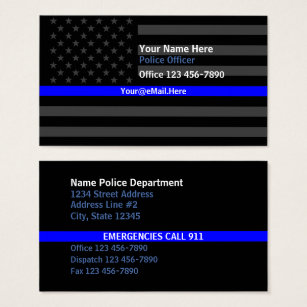 Police business cards 500 police business card templates thin blue line american flag contact business card flashek Image collections