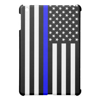 Thin Blue Line American Flag Decor Cover For The iPad Mini
