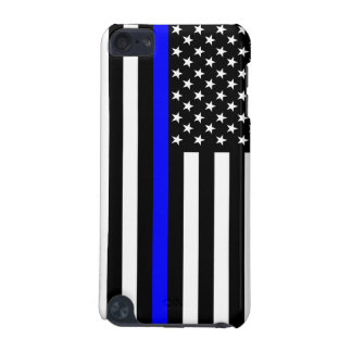 Thin Blue Line American Flag Decor iPod Touch (5th Generation) Case