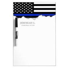 Thin Blue Line American Flag Dry-erase Board at Zazzle