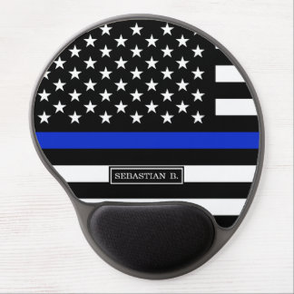 Thin Blue Line American Flag Gel Mouse Pad