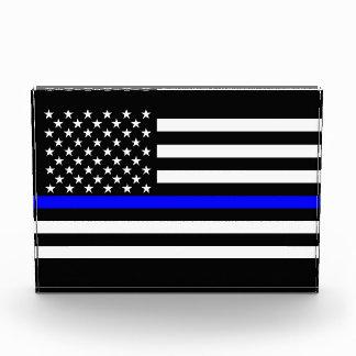 Thin Blue Line American Flag Graphic Decor Acrylic Award