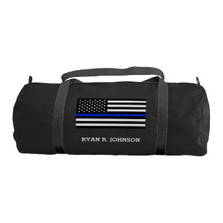 Thin Blue Line American Flag Gym Bag