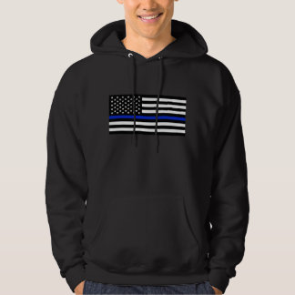 Thin Blue Line American Flag Hoodie